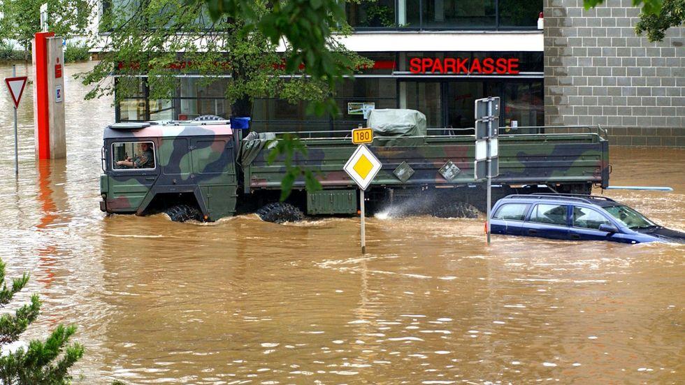 Hochwasser in Flöha 2002 (Archivfoto)
