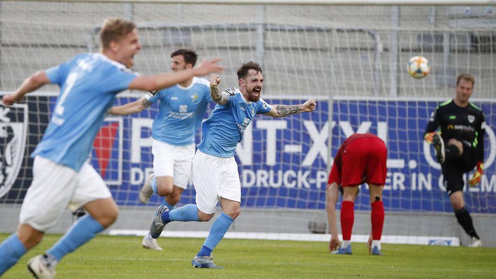 Der CFC jubelt über den Last-Minute-Sieg gegen Münster