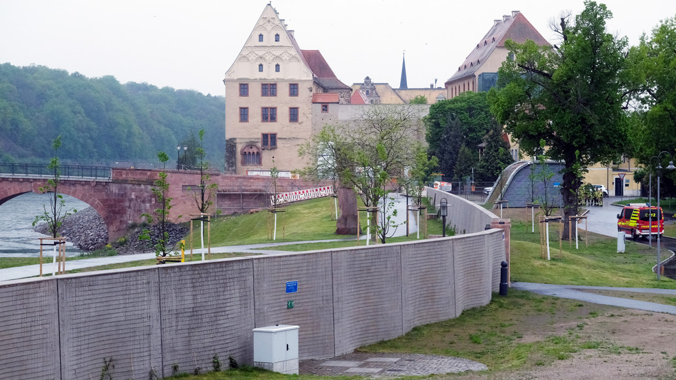 Hochwasserschutzanlage in Grimma