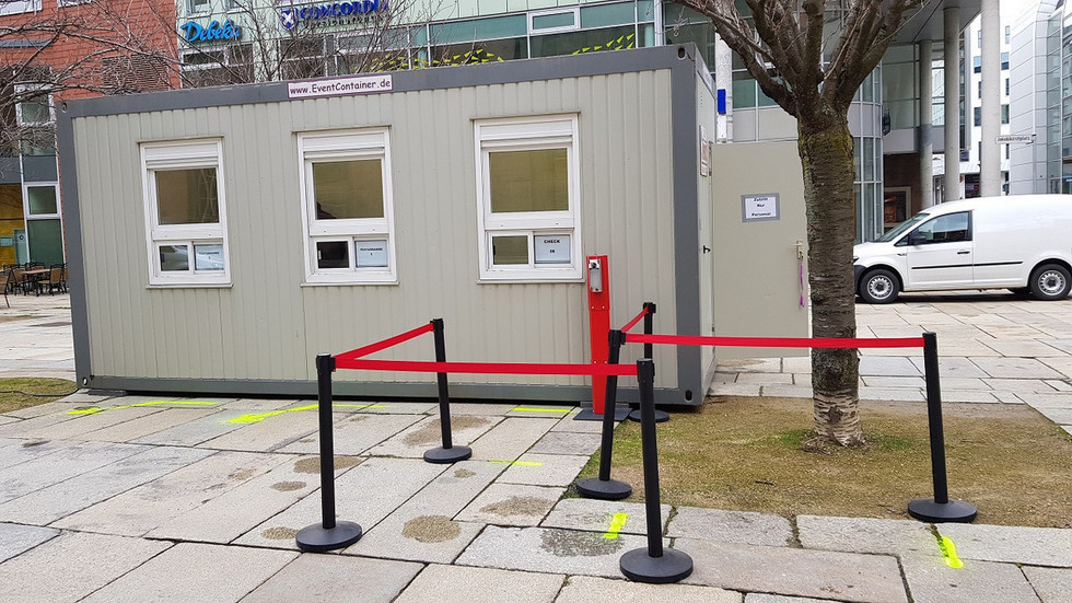 Der Testcontainer am Jakobikirchplatz hat weiterhin geöffnet.