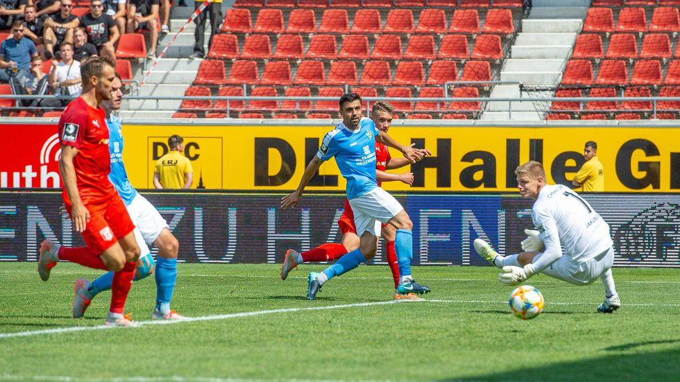 Der CFC kassiert in Halle die dritte Niederlage in der englischen Woche in der 3. Liga