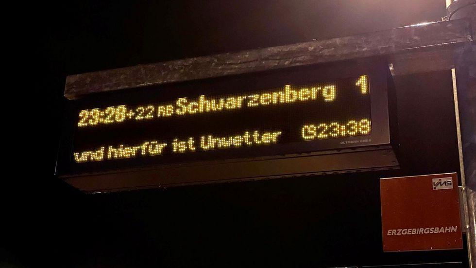 Verspätung auf der Zugverbindung Zwickau - Schwarzenberg