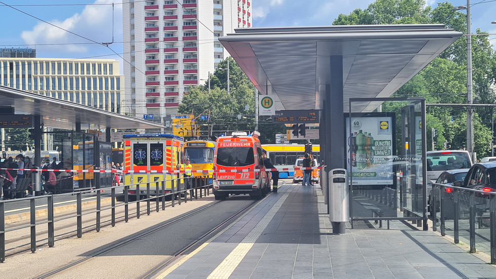 Tödlicher Straßenbahnunfall am Leipziger Hauptbahnhof