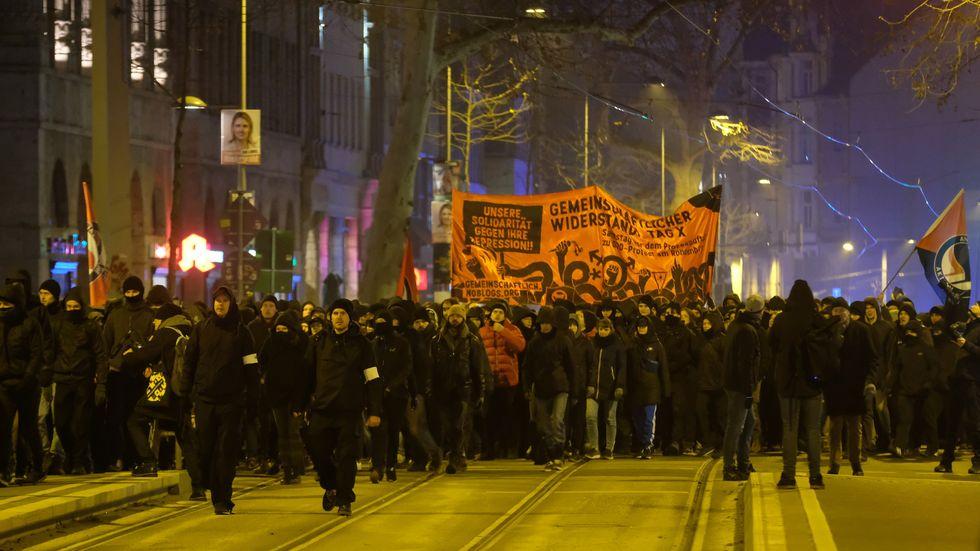 Indymedia-Demo in Leipzig