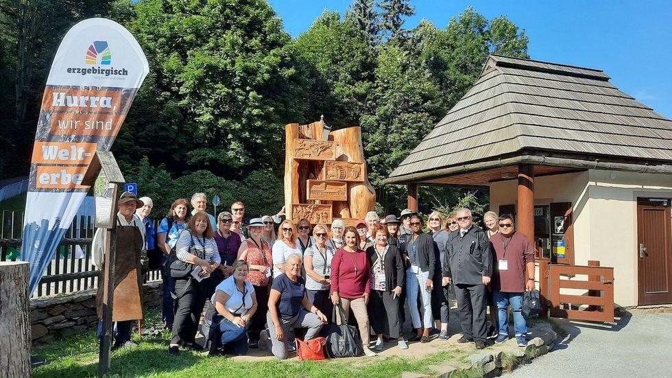 Die US-Reiseveranstalter schauten sich auch den Frohnauer Hammer in Annaberg-Buchholz an