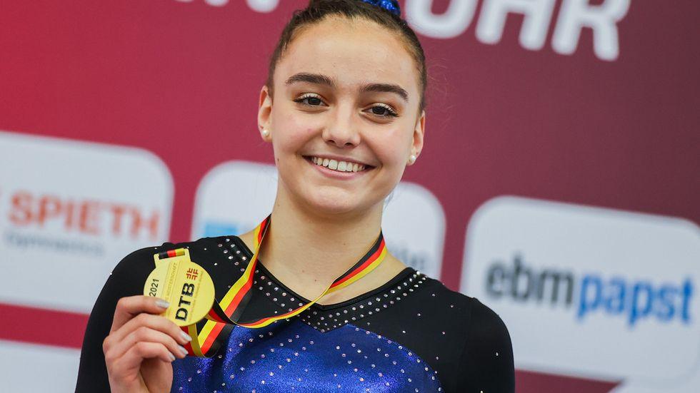 Lisa Zimmermann vom TuS Altendorf gewann bei der Bodenübung.