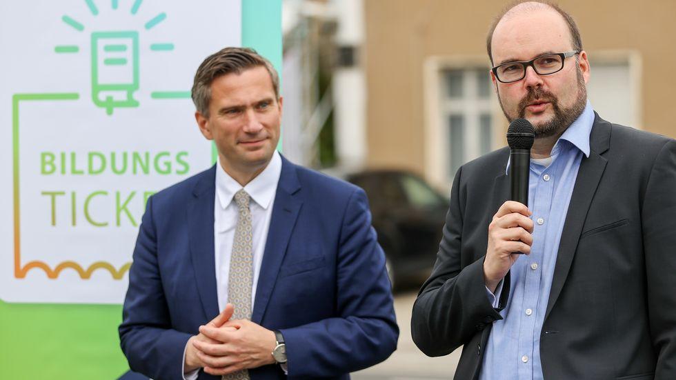 Wirtschaftsminister Martin Dulig (links) und Kultusminister Christian Piwarz