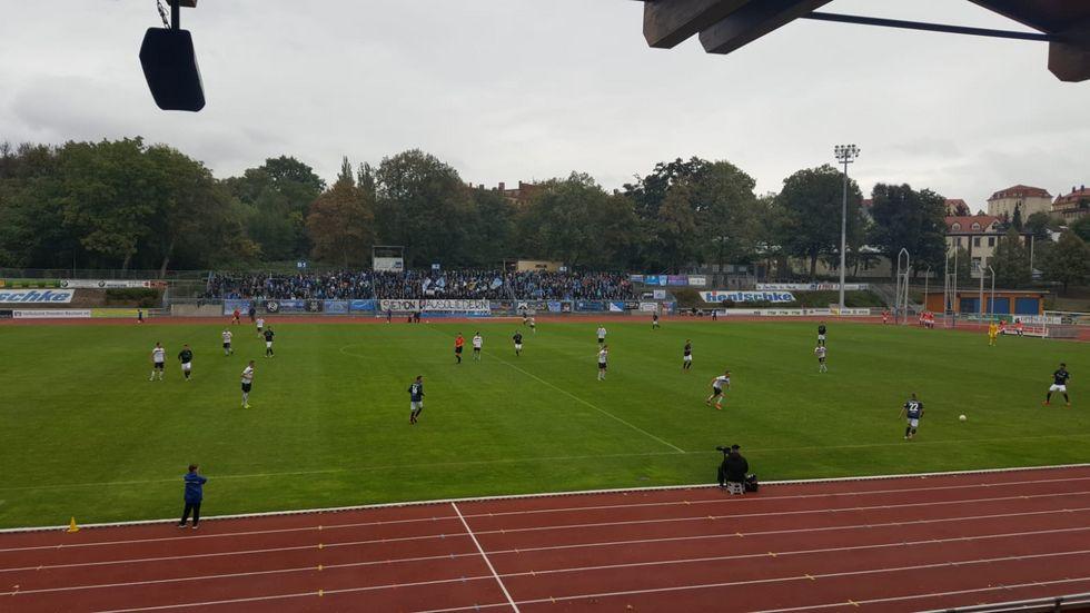 Der CFC feiert mit dem 1:0 in Bautzen den neunten Sieg im neunten Spiel.