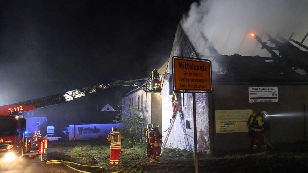 """In Mittelsaida brannte der ehemalige Gasthof """"Sonne"""" nieder."""