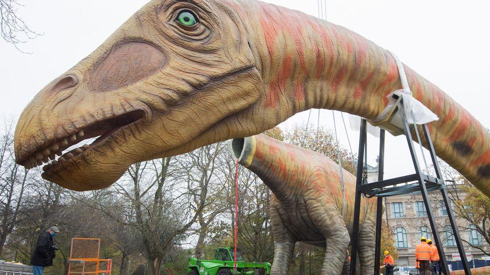 Aufbau einer Dinosaurier-Figur