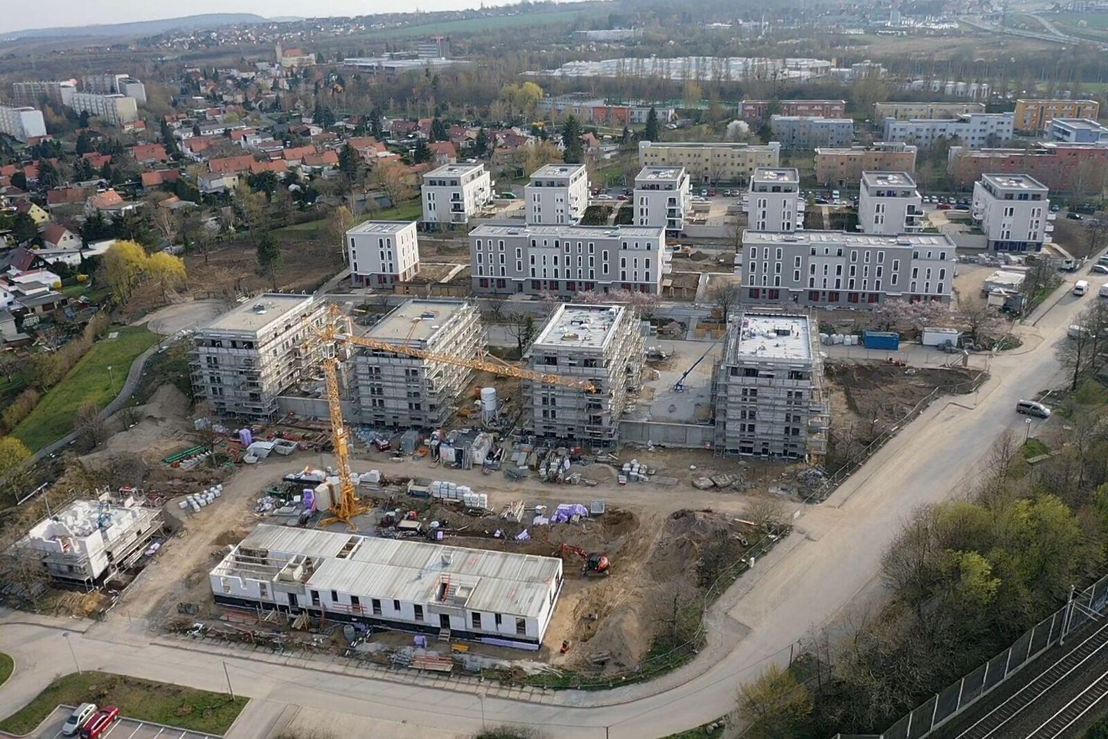 Die neue Kräutersiedlung der Genossenschaft EWG am Gorbitzer Hang. (Foto: PR/EWG)